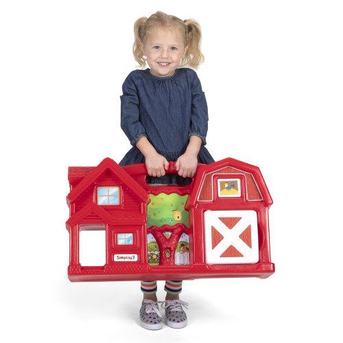 Simplay3 Carry & Go Farm with large handle is Lightweight, sized for quick portability!