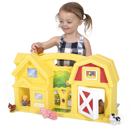 Simplay3 Carry & Go Yellow Farm is made in the USA for boys and girls ages 1 1/2 and up.