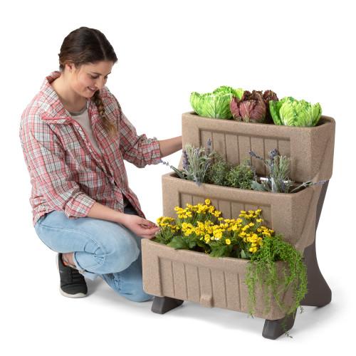 3-Level Herb & Flower Garden Planter