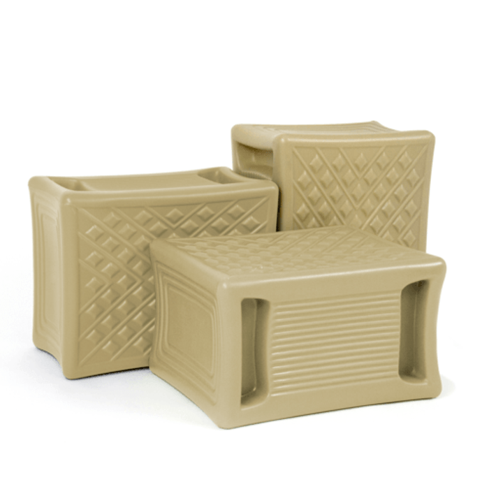 Simplay3 Handy Home 3 Level Work Seat rotates to 3 seat heights to tackle multi-level jobs in the home, yard, garage, or garden.  Available in three colors: tan, gray, or light green.