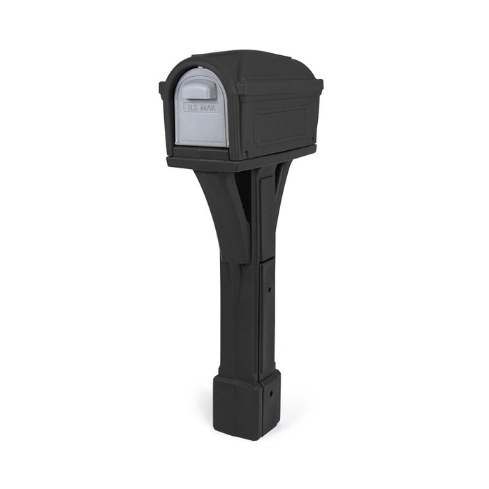 Simplay3 Classic Mailbox is a durable, heavy duty all-in-one plastic mailbox and post that attaches to 4 x 4 post (sold separately) - Built to last and made in the USA.