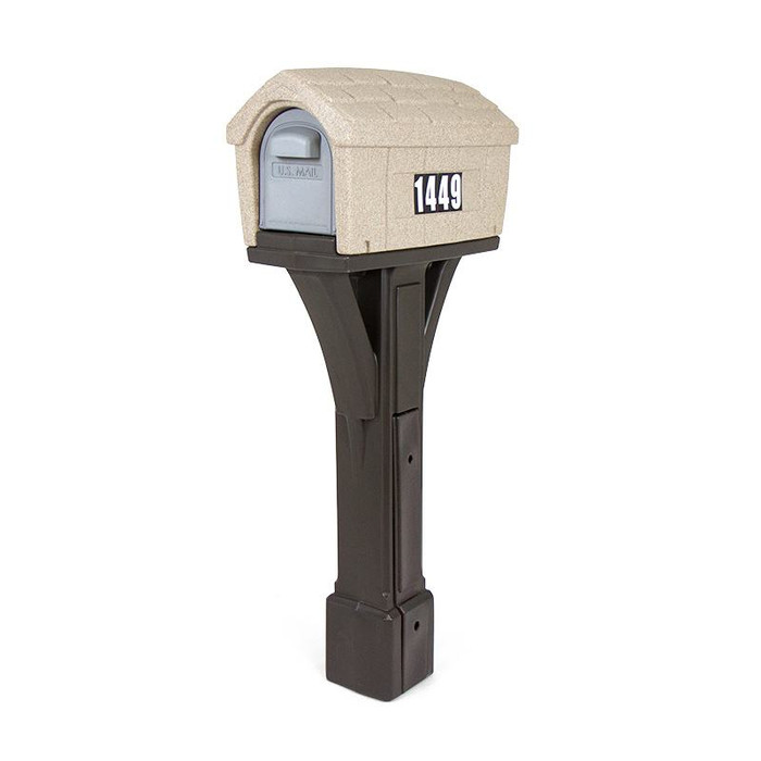 Simplay3 Classic Home Mailbox is a durable, heavy duty all-in-one plastic mailbox and post that attaches to 4 x 4 post (sold separately) - Built to last and made in the USA.