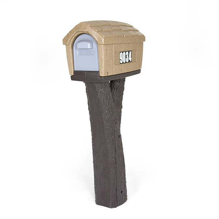 Simplay3 Rustic Home Mailbox is easy to access from the front or rear and features heavy duty magnets that keep mailbox doors closed and contents secure.