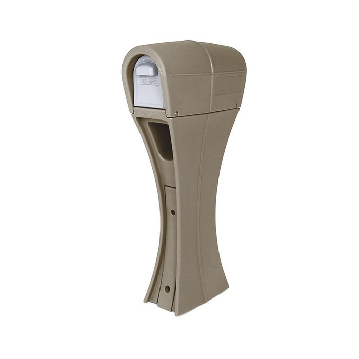 Simplay3 Silhouette residential post mount mailbox with front and rear mail access doors is a smart option for easy and safe retrieval of mail, catalogs, small packages, and newspapers.