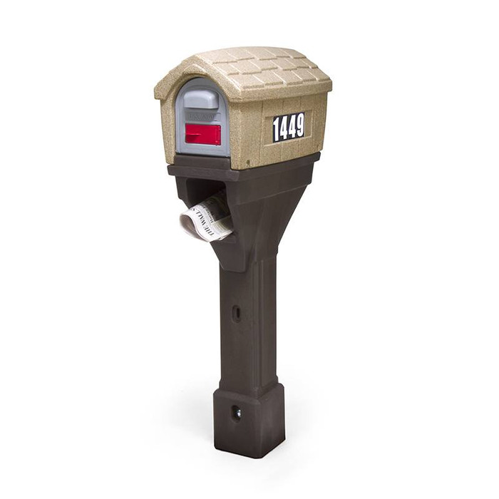 Simplay3 Classic Home Plus Mailbox with newspaper holder has traditional yet rural styling that will complement any home.