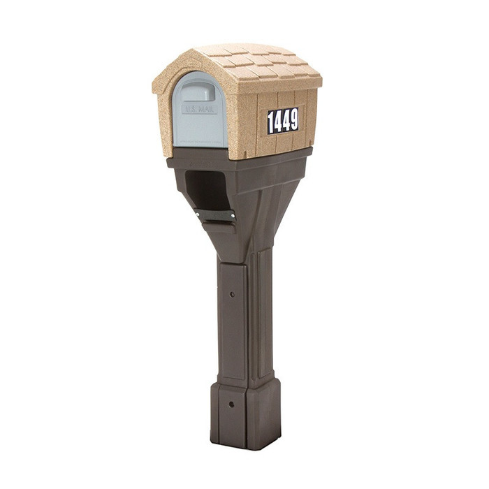 Simplay3 Classic Home Plus Mailbox with newspaper holder is available in sand stone and espresso colors.