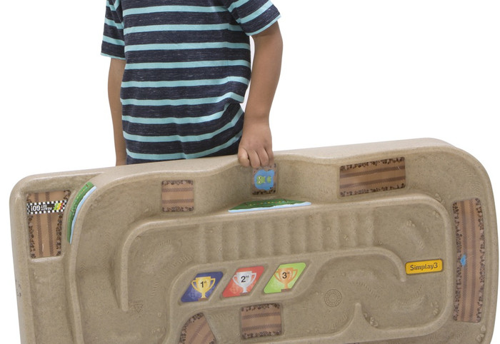 Simplay3 Carry & Go Track Table portable train & track table toy with built in easy carry handle.