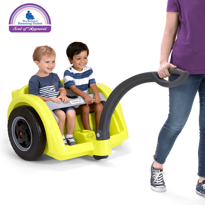 Trail Master 2-Seat Wagon with 2 toddlers and parent