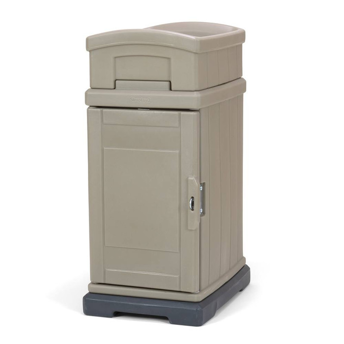 Simplay3 Hide Away Parcel Box with Planter in tan