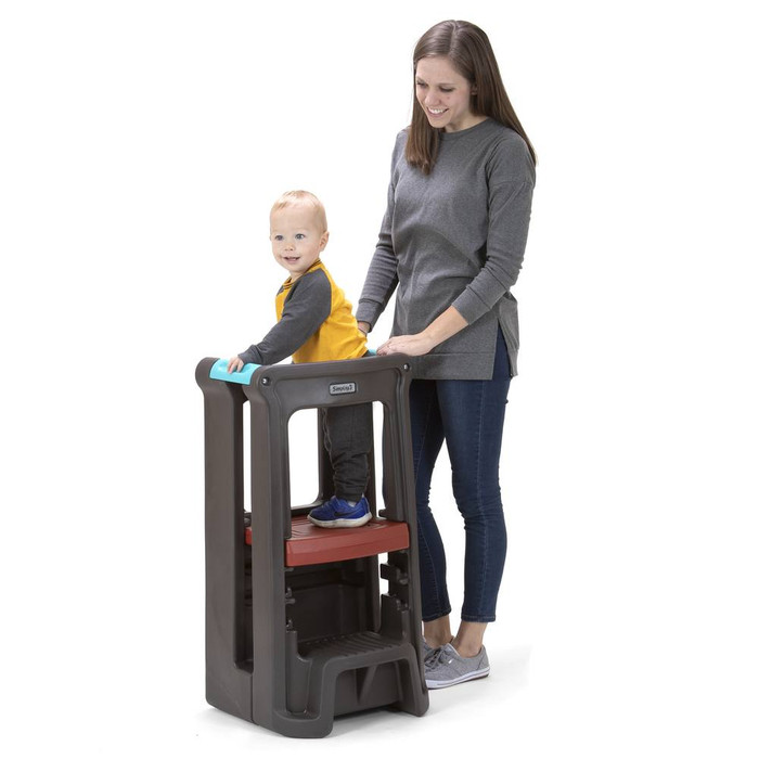 Simplay3 Toddler Tower Adjustable Stool in Espresso