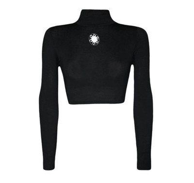 Wear All JCelestine Long Sleeve Turtleneck Crop Top