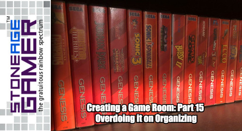 Creating a Game Room: Part 15 - Overdoing it on Organizing