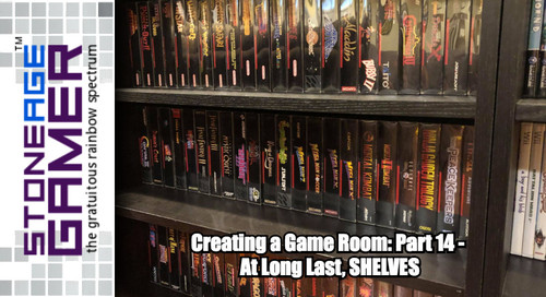 Creating a Game Room: Part 14 - At Long Last, SHELVES