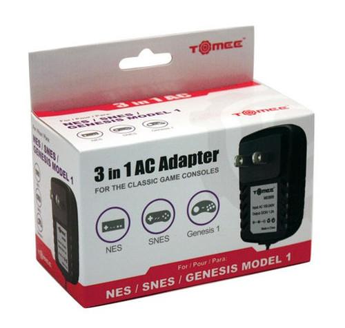SNES / NES / Genesis 3-in-1 Universal AC Adapter (Tomee)