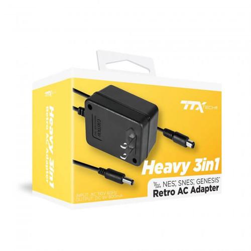 3-in-1 Universal AC Adapter for Genesis/ SNES/ NES - TTX