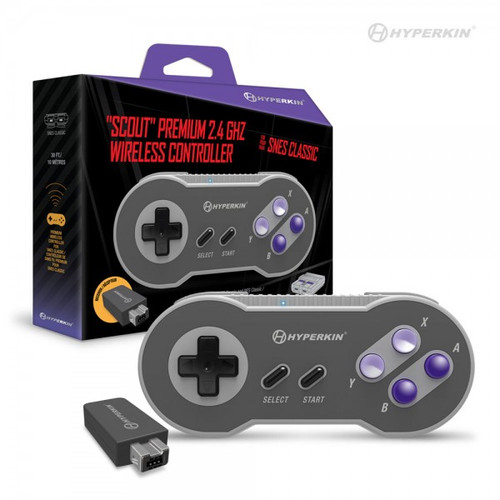 """Scout"" Premium 2.4 GHz Wireless Controller for SNES Classic Edition/ NES Classic Edition"