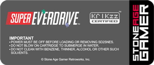 Super EverDrive Back Label (Japanese/European)