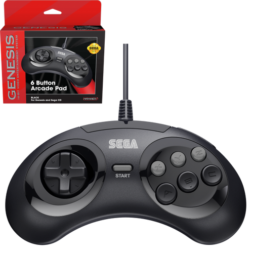 Sega Genesis Officially Licensed 6 Button Controller