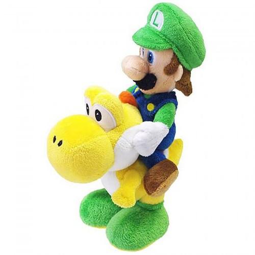 """PLUSH Luigi Riding Yoshi 9"""""""