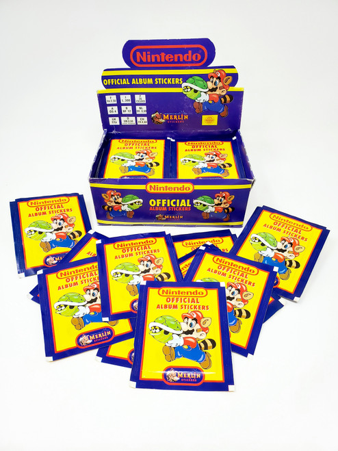 Vintage Nintendo Official Album Stickers (©1992)