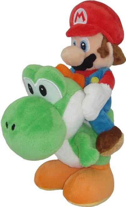 PLUSH Mario Riding Yoshi 8 Inch