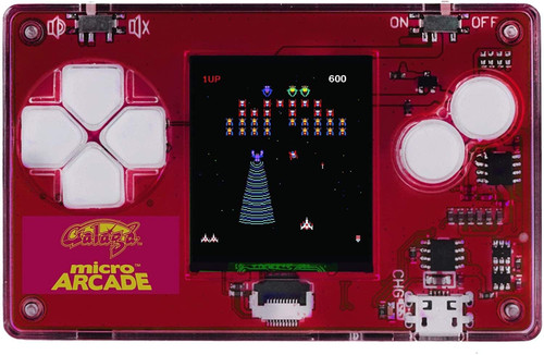 Micro Arcade Galaga - Pocket Sized Portable Game System