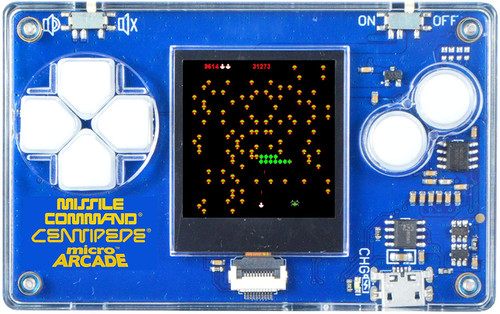 Micro Arcade Centipede, Missile Command, Pong  - Pocket Sized Portable Game System