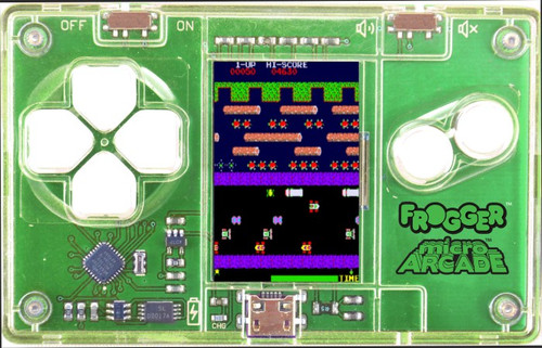 Micro Arcade Frogger - Pocket Sized Portable Game System
