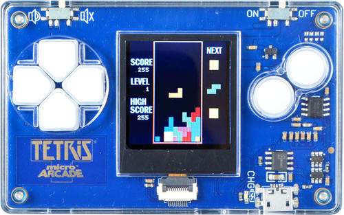 Micro Arcade Tetris - Pocket Sized Portable Game System