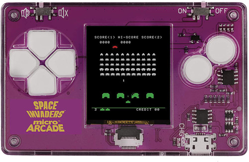 Micro Arcade Space Invaders - Pocket Sized Portable Game System
