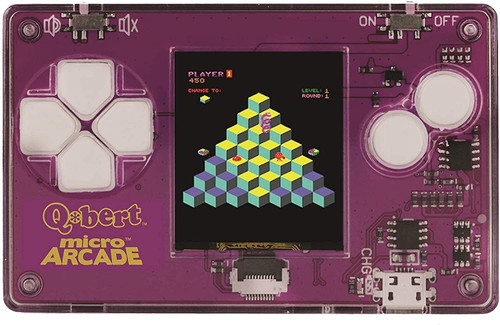 Micro Arcade Q-Bert - Pocket Sized Portable Game System