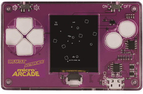 Micro Arcade Atari 2 (Asteroids, Breakout, Pong) - Pocket Sized Portable Game System