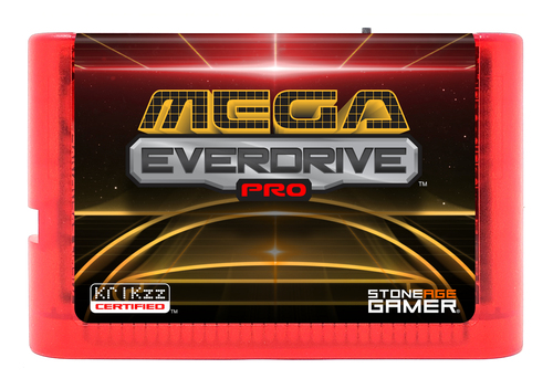 Mega EverDrive Pro (Retro Space) [Flame Red]