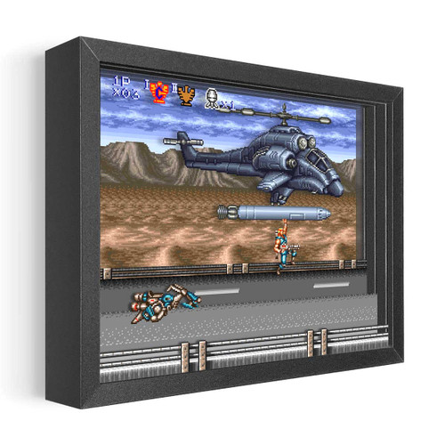 Artovision - Contra 3 Missile Ride Shadowbox Art