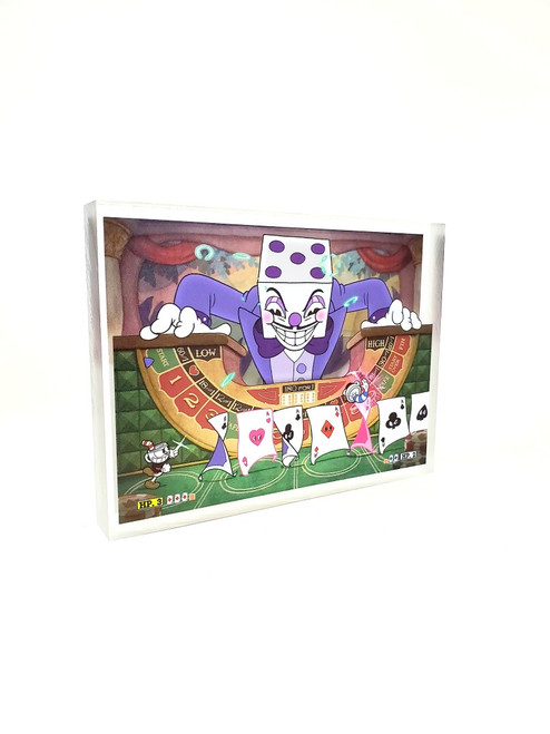 Artovision - CupHead King Dice Desk Art