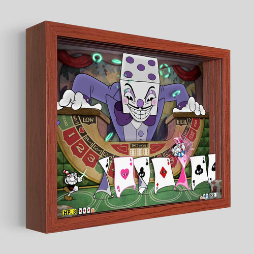 Artovision - Cuphead King Dice Shadowbox Art