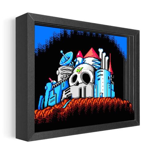 Artovision - Mega Man 2 Dr. Wily's Castle Shadowbox Art
