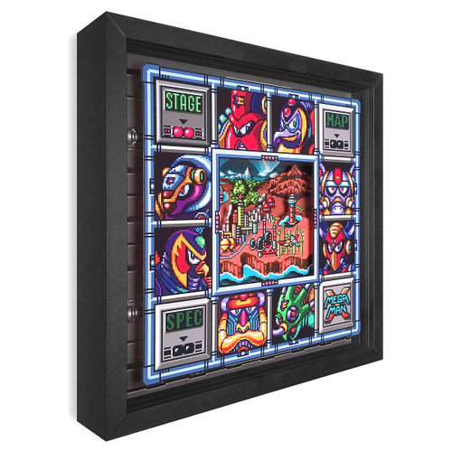 Artovision - Mega Man X Bosses Shadowbox Art