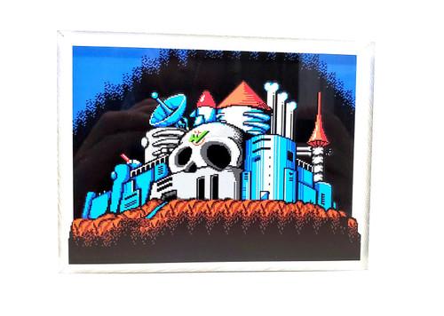 Artovision - Mega Man 2 Dr. Wily's Castle Desk Art