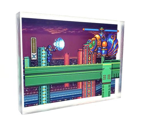 Artovision - Mega Man X vs Bee Blader Desk Art