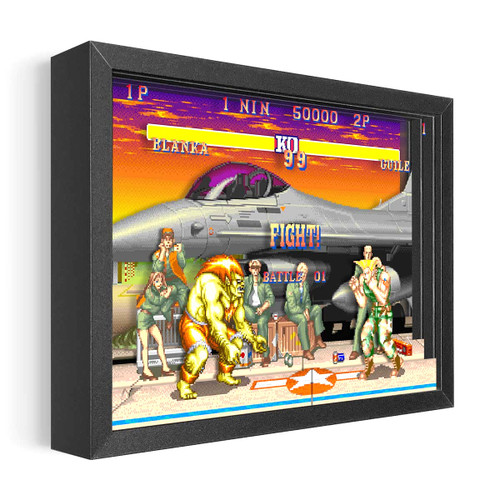Artovision - Street Fighter Guile vs Blanka Shadowbox Art