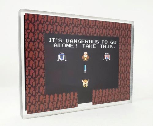 Artovision - Zelda Star Wars Desk Art