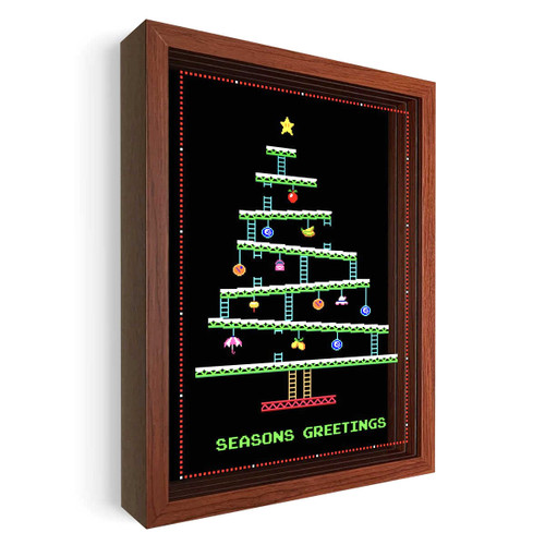 Artovision - 8-Bit Christmas Shadowbox Art