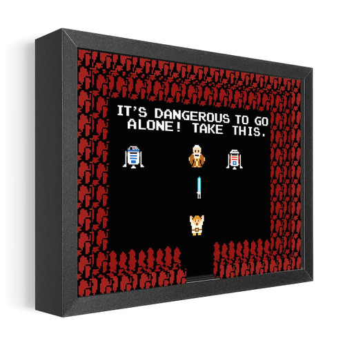 Artovision - Dangerous Alone Shadowbox Art