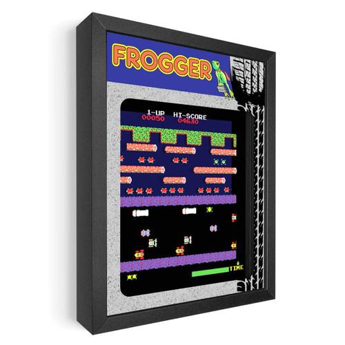 Artovision -Frogger Shadowbox Art