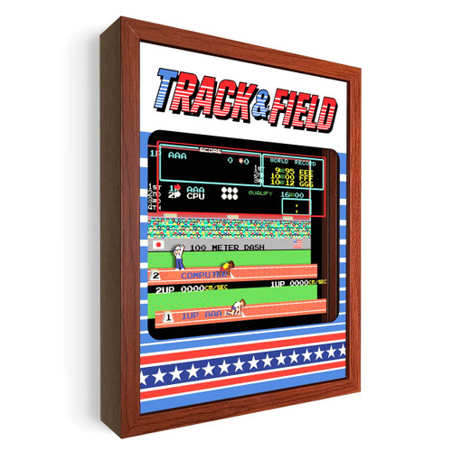 Artovision - Track & Field Shadowbox Art