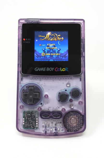GameBoy Color Atomic Purple (Original) - McWill LCD Modified