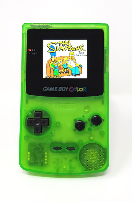 GameBoy Color Translucent Kiwi (Original - New Shell) - McWill LCD Modified