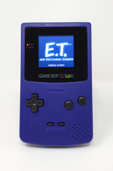 GameBoy Color Grape (Original - New Shell) - McWill LCD Modified