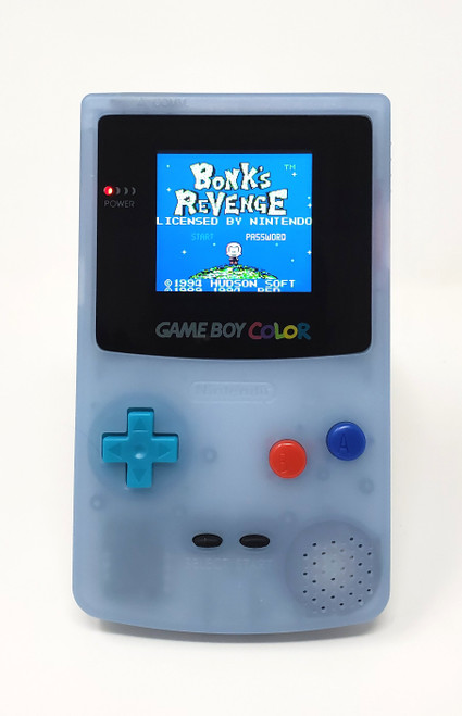 GameBoy Color Glow-in-the-Dark Blue (Original) - McWill LCD Modified